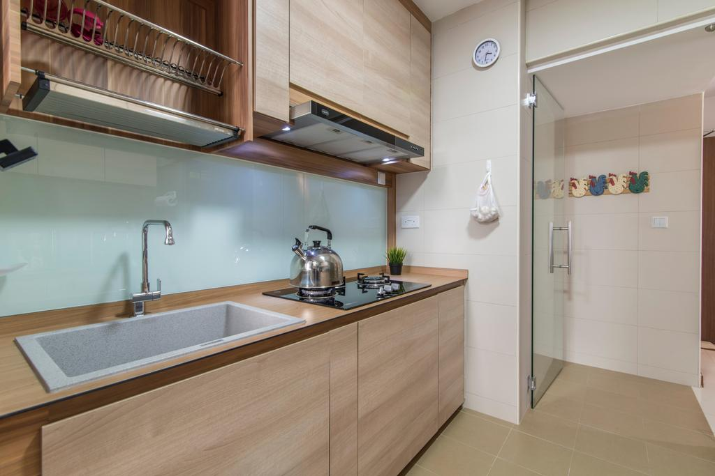 Contemporary, HDB, Kitchen, Anchorvale Crescent, Interior Designer, Couple Abode