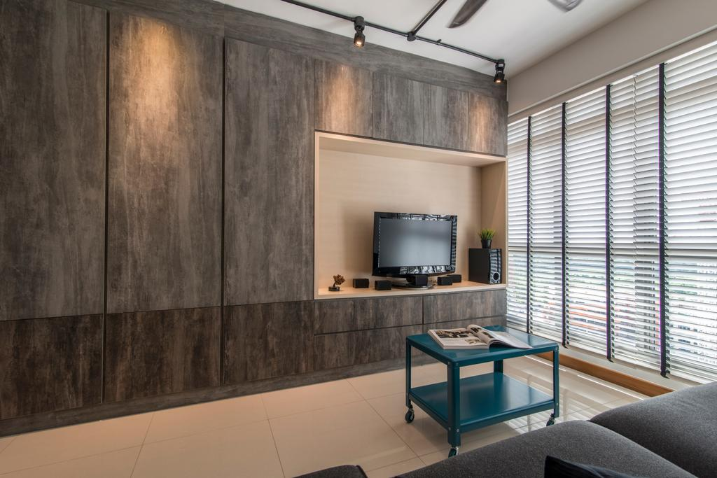 Contemporary, HDB, Living Room, Anchorvale Crescent, Interior Designer, Couple Abode