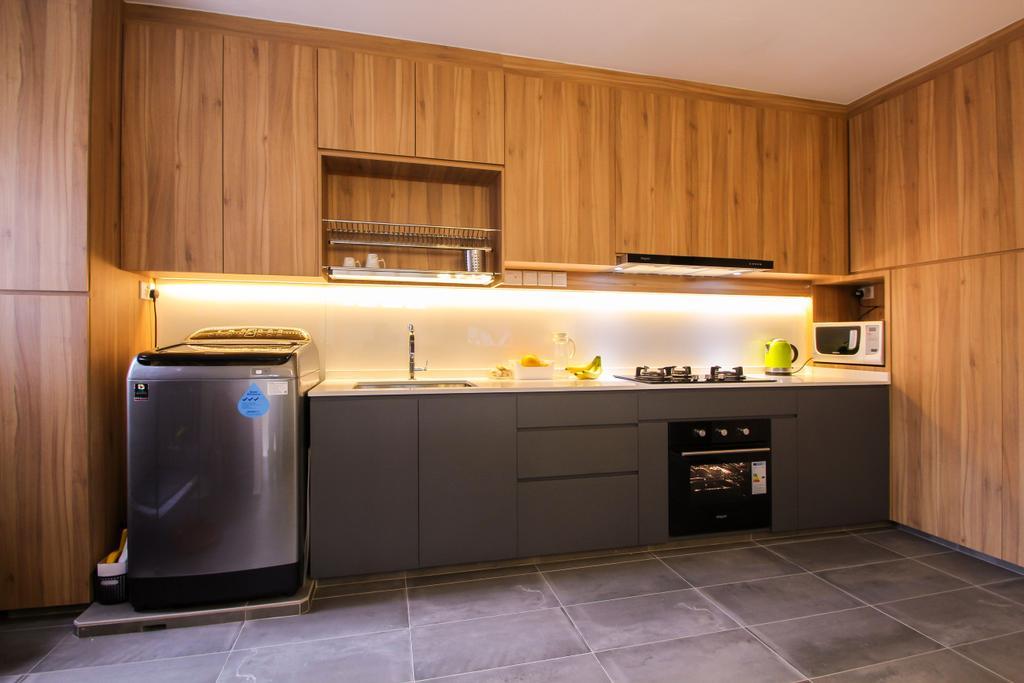 Contemporary, HDB, Kitchen, Choa Chu Kang Avenue 4, Interior Designer, Couple Abode