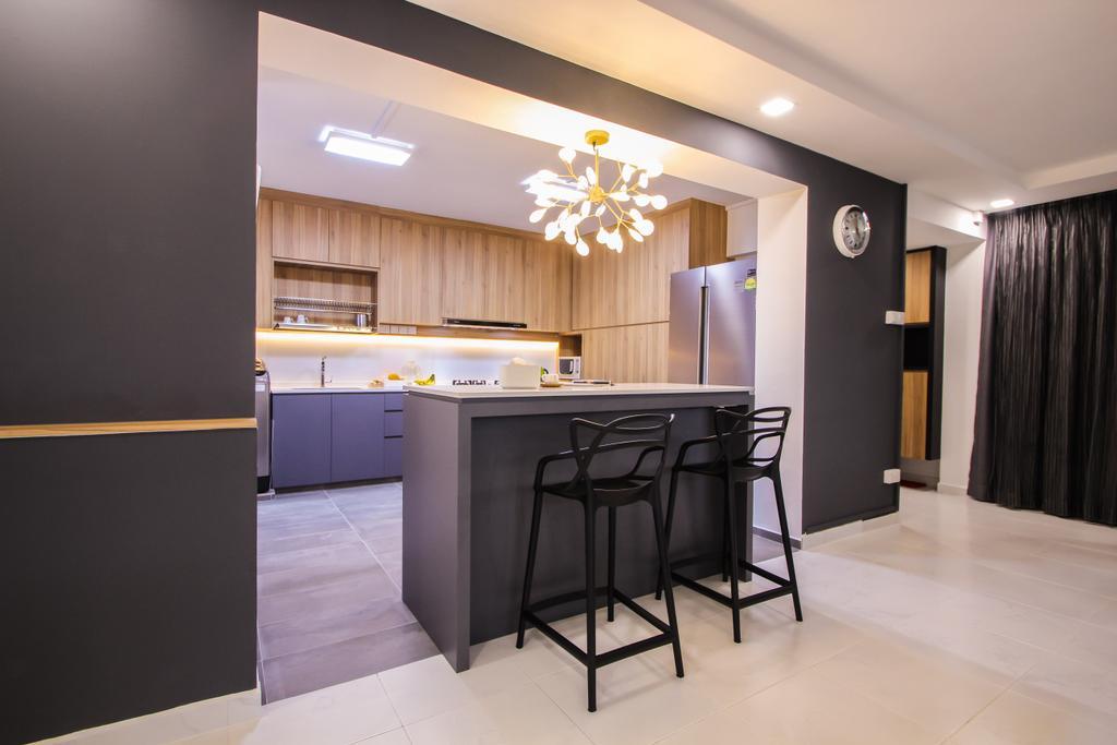 Contemporary, HDB, Choa Chu Kang Avenue 4, Interior Designer, Couple Abode