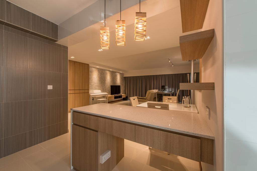 Modern, HDB, Edgefield Plains, Interior Designer, Couple Abode
