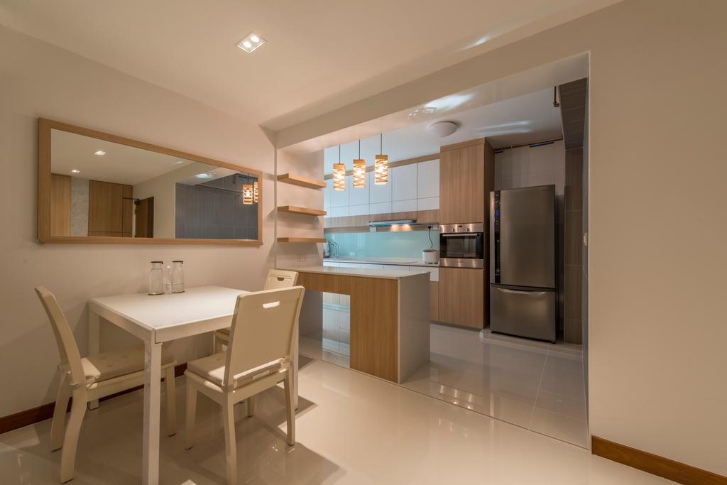 Modern, HDB, Dining Room, Edgefield Plains, Interior Designer, Couple Abode
