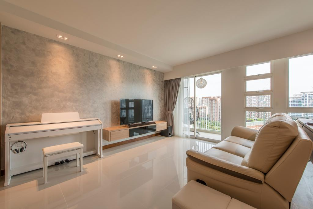 Modern, HDB, Living Room, Edgefield Plains, Interior Designer, Couple Abode