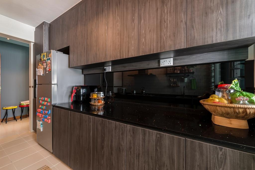 Industrial, HDB, Kitchen, Edgefield Plains, Interior Designer, Couple Abode, Contemporary
