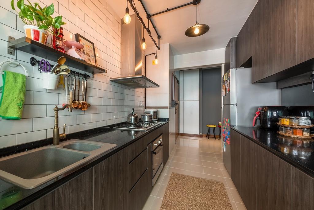 Industrial, HDB, Edgefield Plains, Interior Designer, Couple Abode, Contemporary