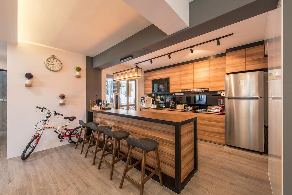 Contemporary, HDB, Dining Room, Tampines Street 86, Interior Designer, Couple Abode