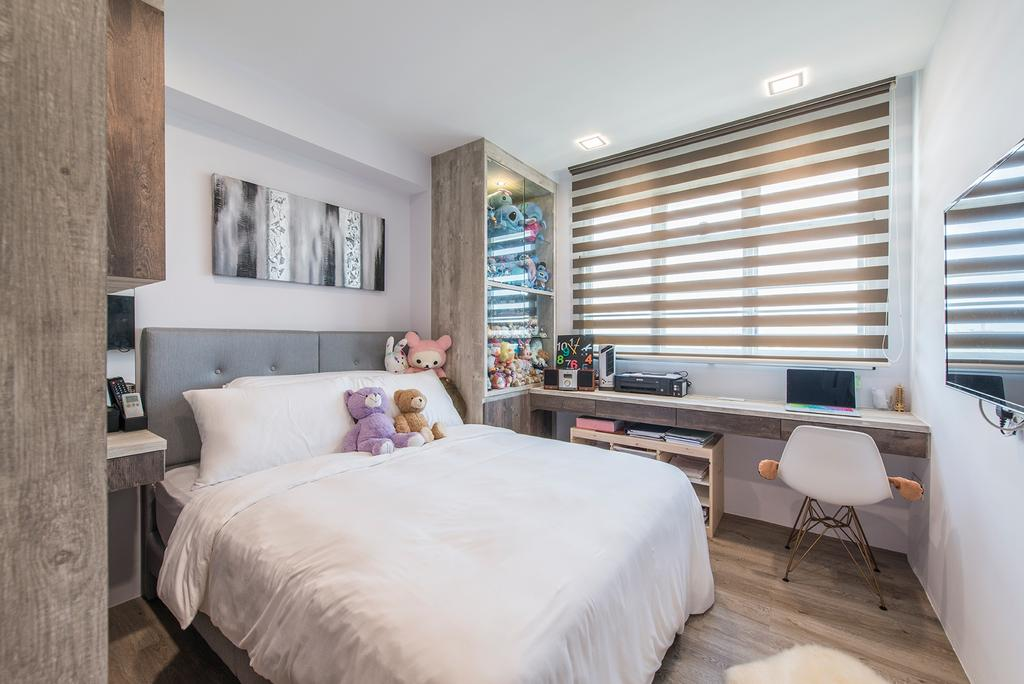 Contemporary, HDB, Bedroom, Tampines Street 86, Interior Designer, Couple Abode