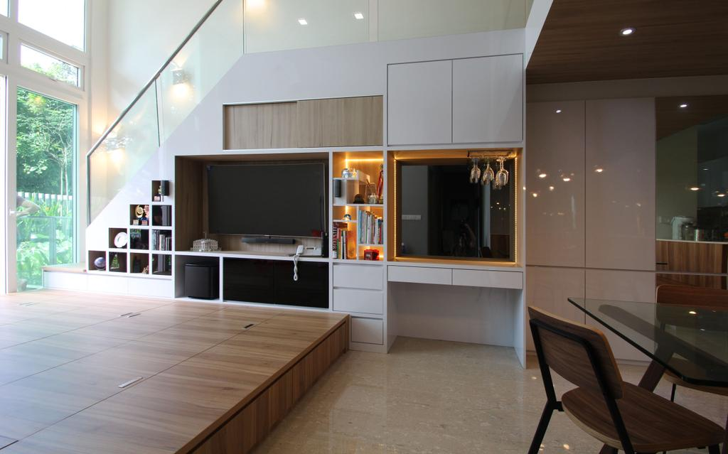 Modern, Condo, Living Room, Waterfront @ Faber, Interior Designer, Couple Abode