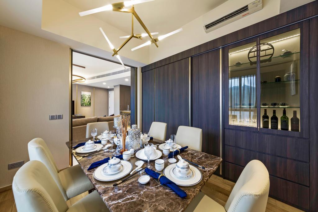 Modern, Condo, Dining Room, Reflections at Keppel Bay, Interior Designer, Summerhaus D'zign, Contemporary