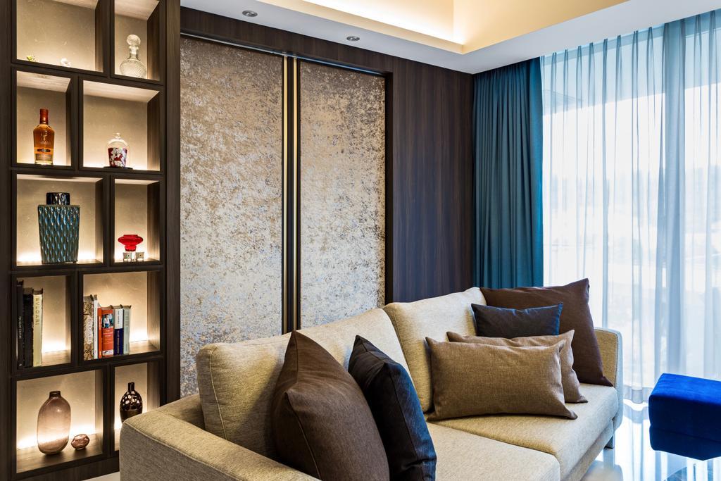Modern, Condo, Living Room, Reflections at Keppel Bay, Interior Designer, Summerhaus D'zign, Contemporary