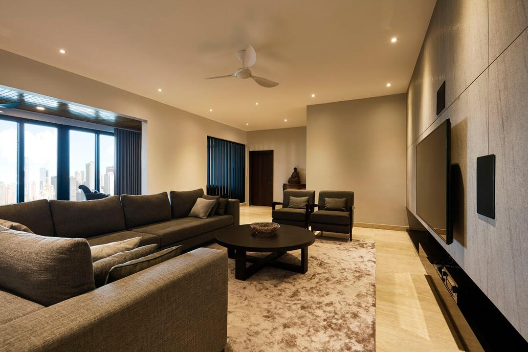 Bungalow, Damansara, Movent Signature Design, Modern, Contemporary, Living  Room, Landed