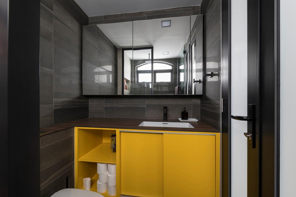 Industrial, Condo, Bathroom, Ontario Avenue, Interior Designer, Meter Square