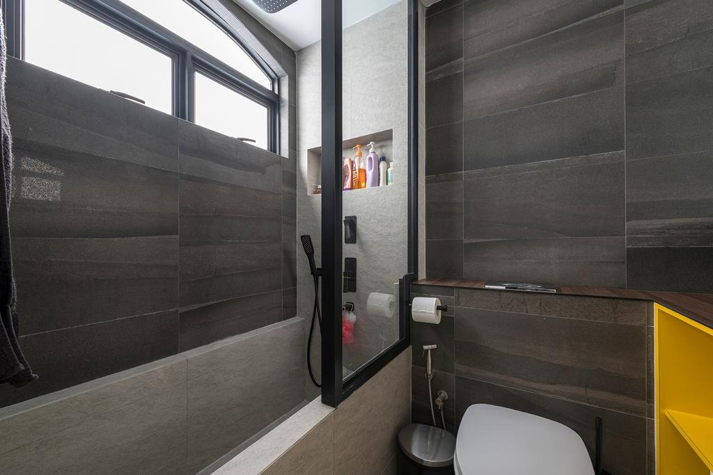 Industrial, Condo, Bathroom, Ontario Avenue, Interior Designer, Meter Square