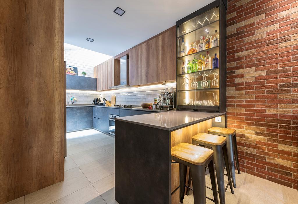 Industrial, Condo, Kitchen, Ontario Avenue, Interior Designer, Meter Square