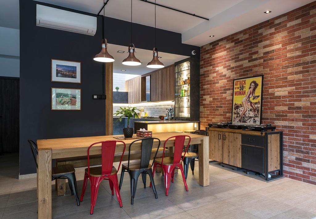 Industrial, Condo, Dining Room, Ontario Avenue, Interior Designer, Meter Square