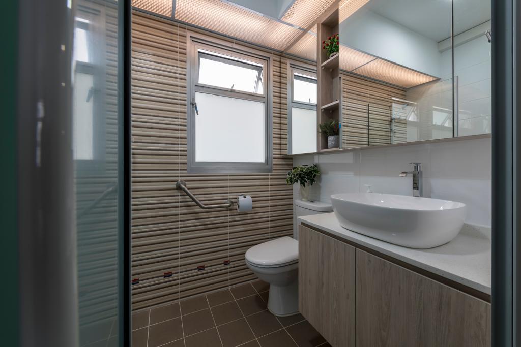 Contemporary, HDB, Bathroom, Bukit Batok Avenue 8, Interior Designer, Meter Square