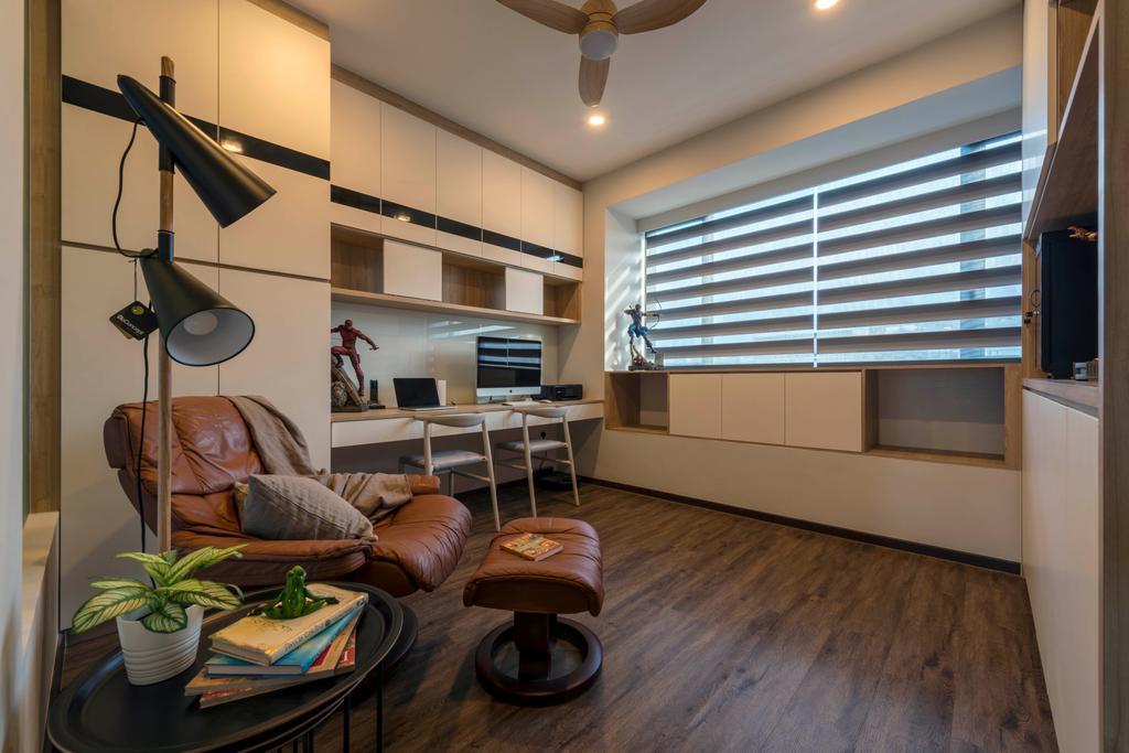 Contemporary, Condo, Study, D'Nest, Interior Designer, Meter Square