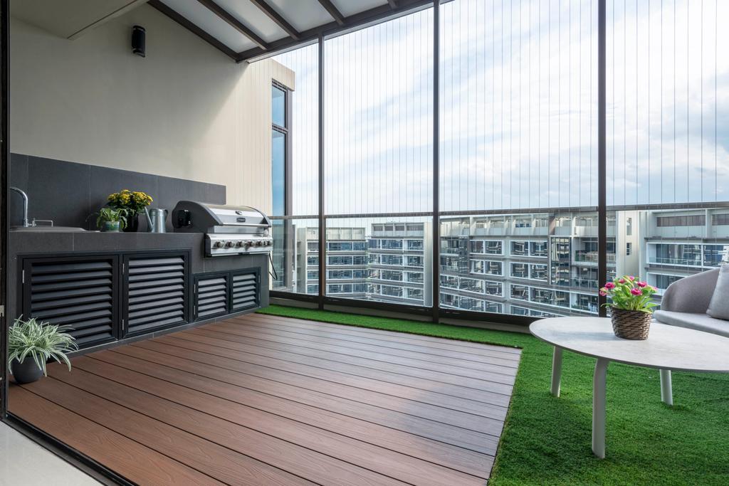 Contemporary, Condo, Balcony, D'Nest, Interior Designer, Meter Square