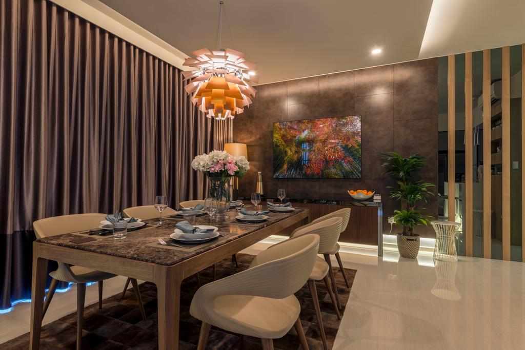 Contemporary, Condo, Dining Room, D'Nest, Interior Designer, Meter Square