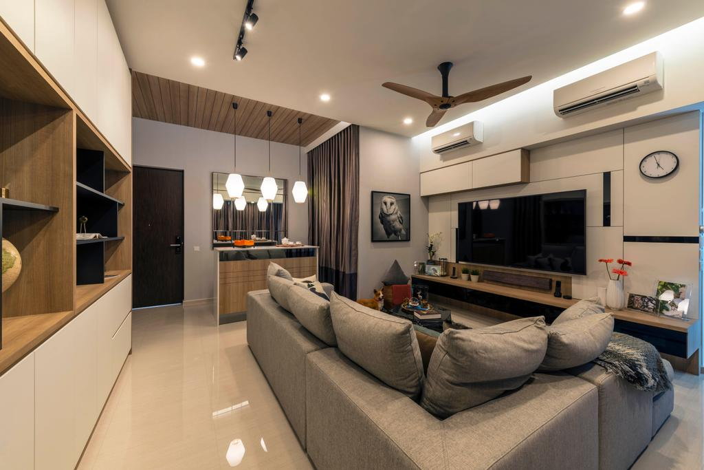 Contemporary, Condo, Living Room, D'Nest, Interior Designer, Meter Square