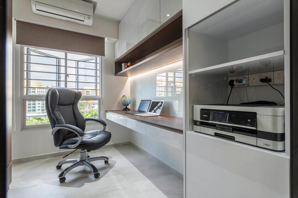 Contemporary, HDB, Study, Woodlands Drive 73, Interior Designer, Meter Square