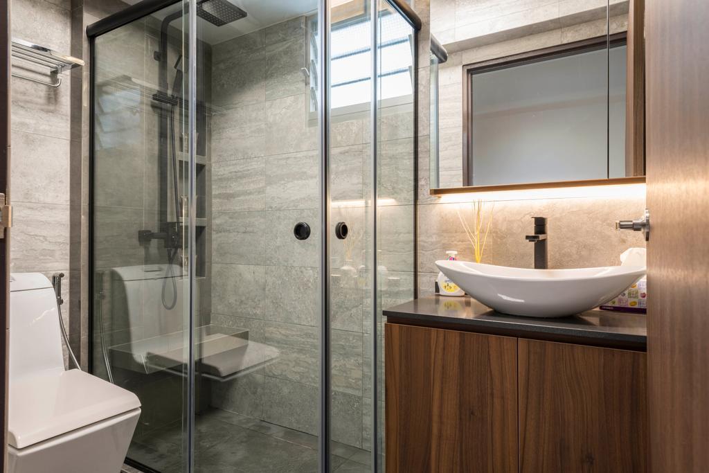 Contemporary, HDB, Bathroom, Woodlands Drive 73, Interior Designer, Meter Square