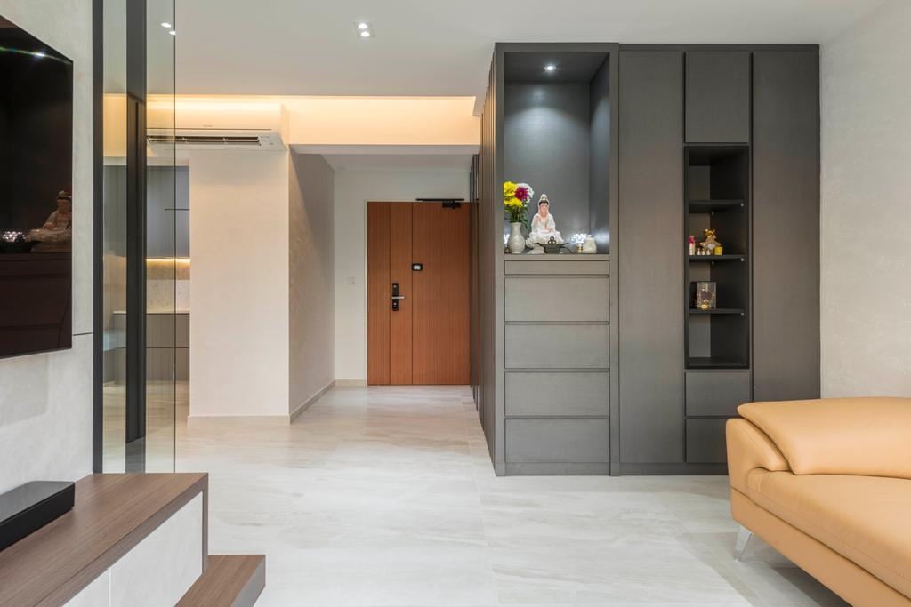 Contemporary, HDB, Living Room, Woodlands Drive 73, Interior Designer, Meter Square