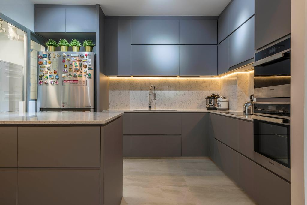 Contemporary, HDB, Kitchen, Woodlands Drive 73, Interior Designer, Meter Square