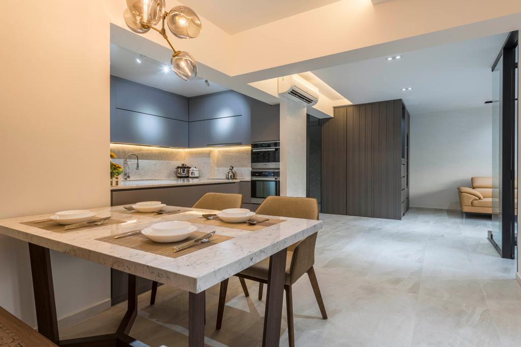 Contemporary, HDB, Dining Room, Woodlands Drive 73, Interior Designer, Meter Square