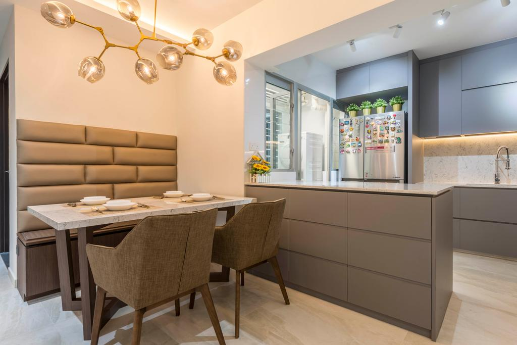 Contemporary, HDB, Dining Room, Woodlands Drive 73, Interior Designer, Meter Square