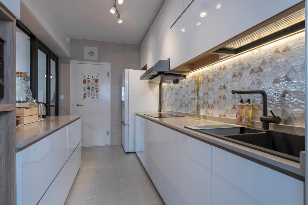 Scandinavian, HDB, Kitchen, Bukit Batok Avenue 8, Interior Designer, Meter Square