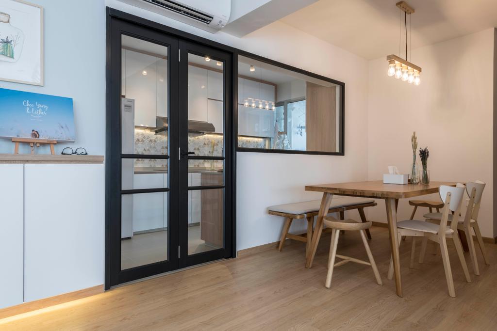 Scandinavian, HDB, Dining Room, Bukit Batok Avenue 8, Interior Designer, Meter Square