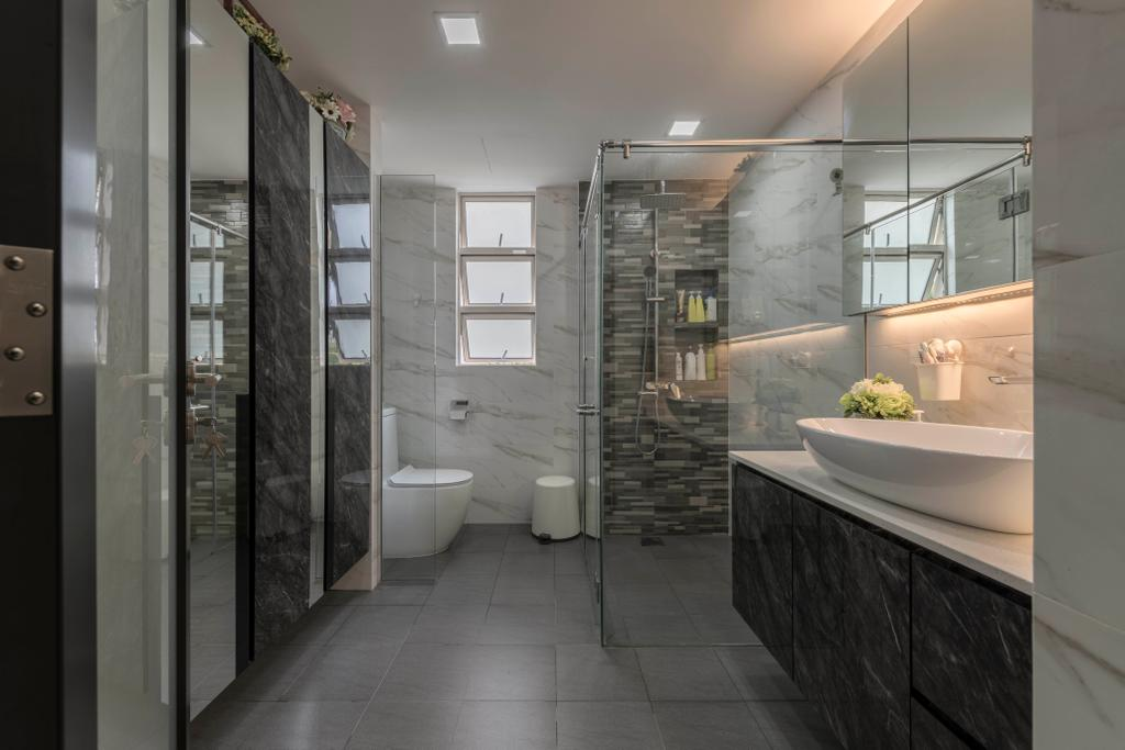 Contemporary, HDB, Bathroom, Hillview Hillington Green, Interior Designer, Meter Square