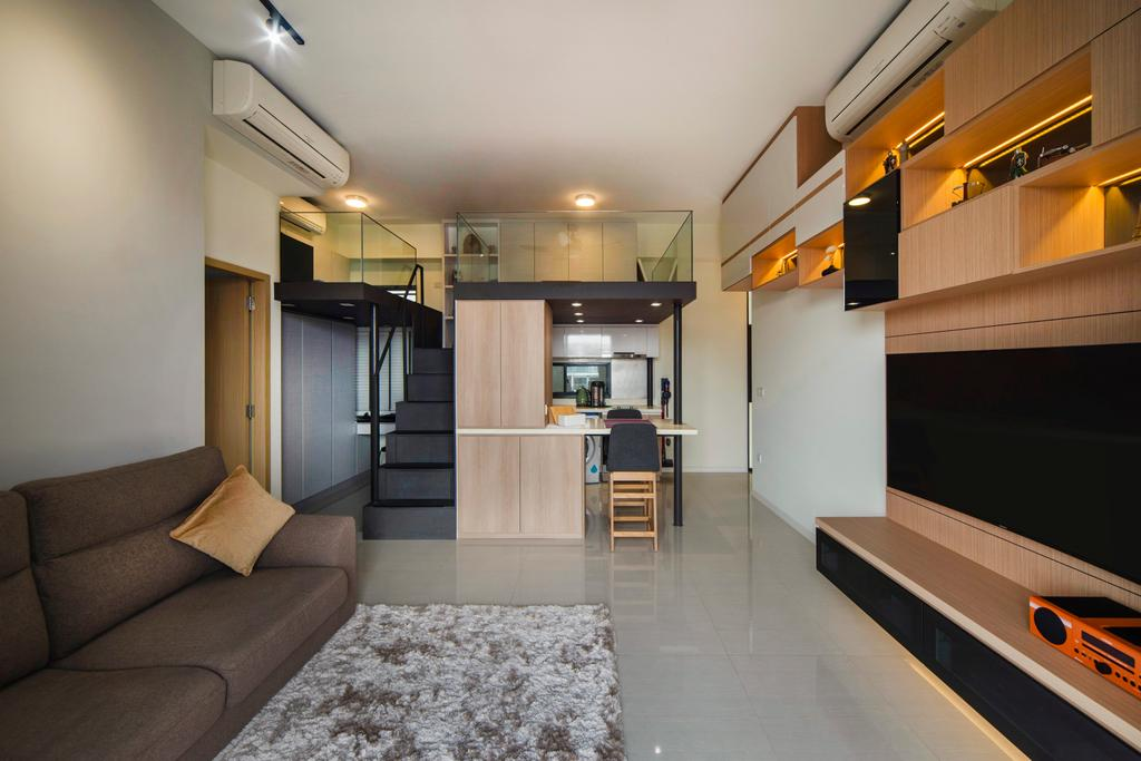 Modern, Condo, Living Room, Boathouse Residences, Interior Designer, Cozy Ideas Interior Design, Loft