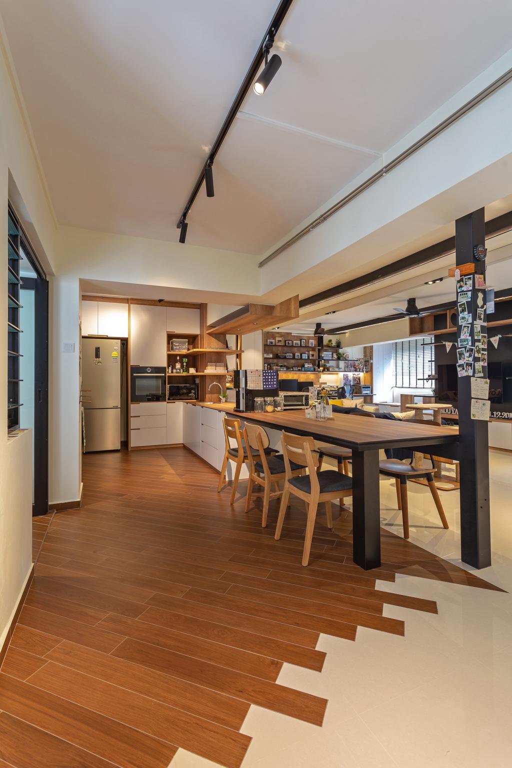 Contemporary, HDB, Dining Room, Compassvale Walk, Interior Designer, Metamorph Design