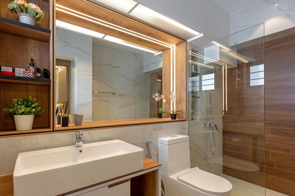 Contemporary, HDB, Bathroom, Compassvale Walk, Interior Designer, Metamorph Design