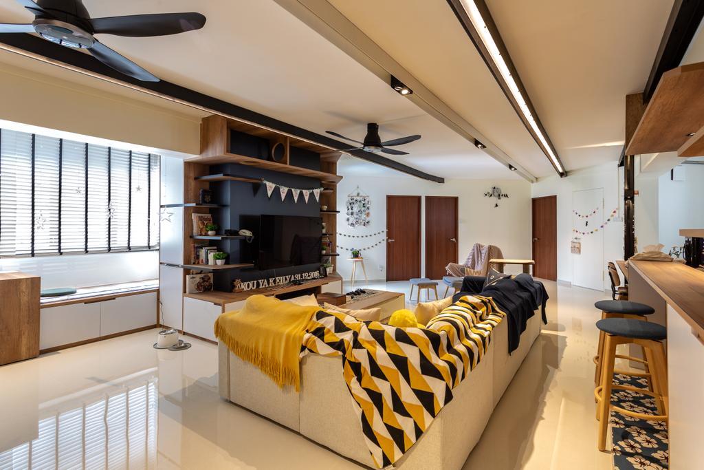 Contemporary, HDB, Living Room, Compassvale Walk, Interior Designer, Metamorph Design