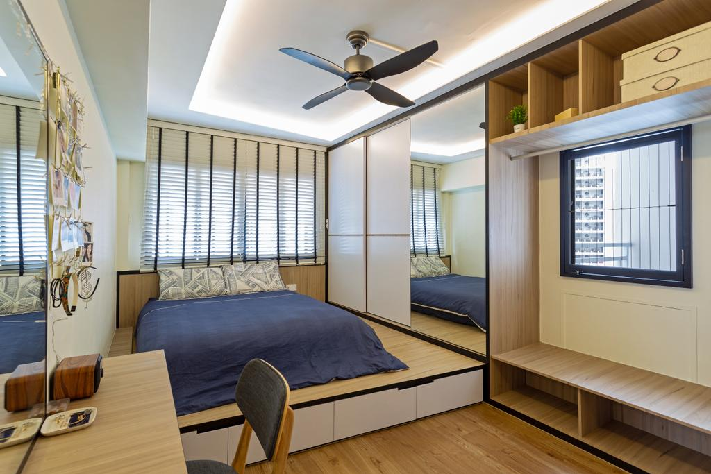 Contemporary, HDB, Bedroom, Compassvale Walk, Interior Designer, Metamorph Design