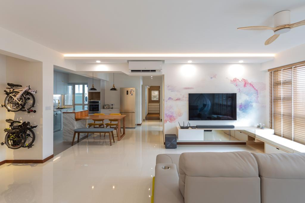 Eclectic, HDB, Living Room, Sumang Lane, Interior Designer, The Roomakers