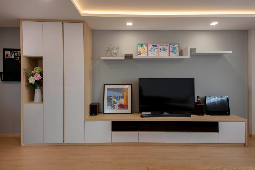 Contemporary, HDB, Living Room, Jurong East Street 13, Interior Designer, Ascenders Design Studio