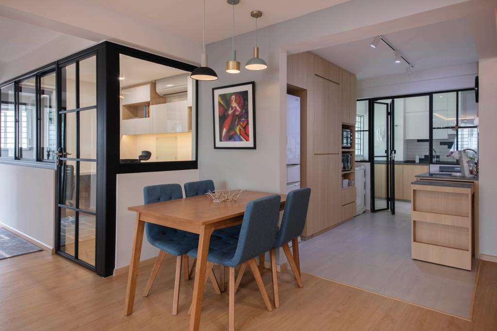 Contemporary, HDB, Dining Room, Jurong East Street 13, Interior Designer, Ascenders Design Studio