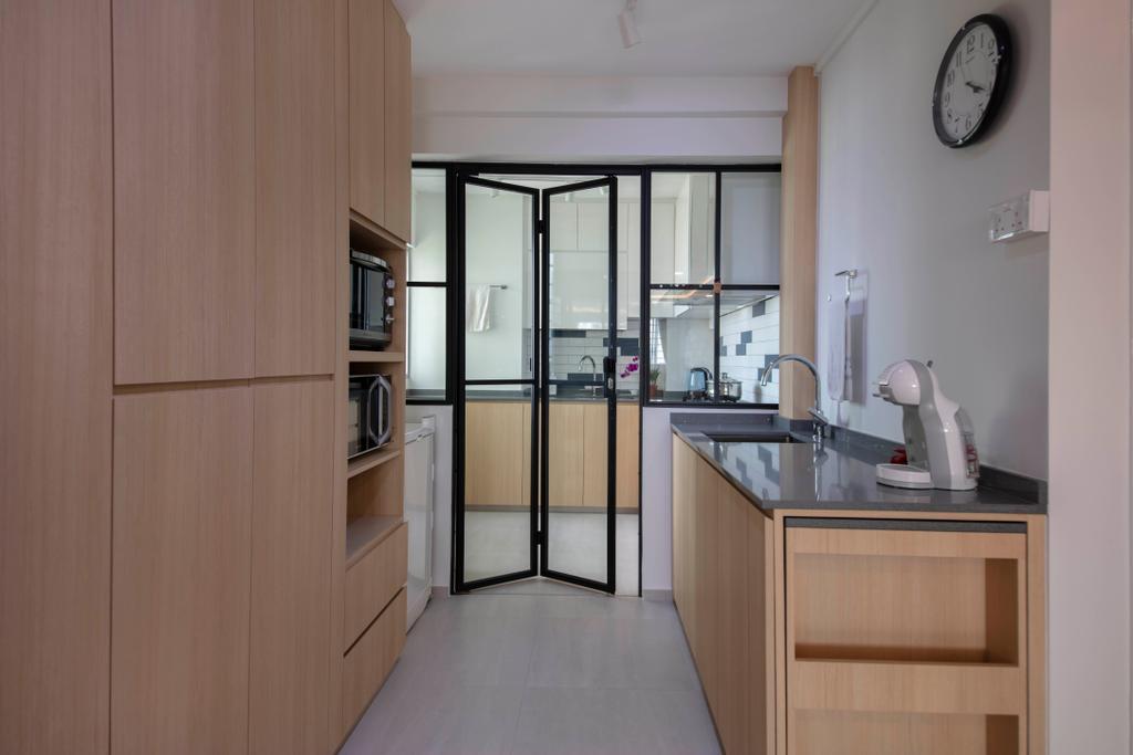 Contemporary, HDB, Kitchen, Jurong East Street 13, Interior Designer, Ascenders Design Studio