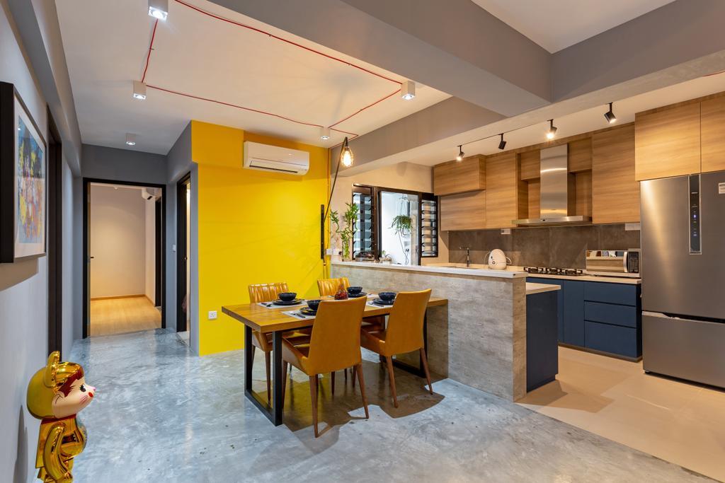 Industrial, HDB, Dining Room, Buangkok Crescent, Interior Designer, Posh Home, Modern