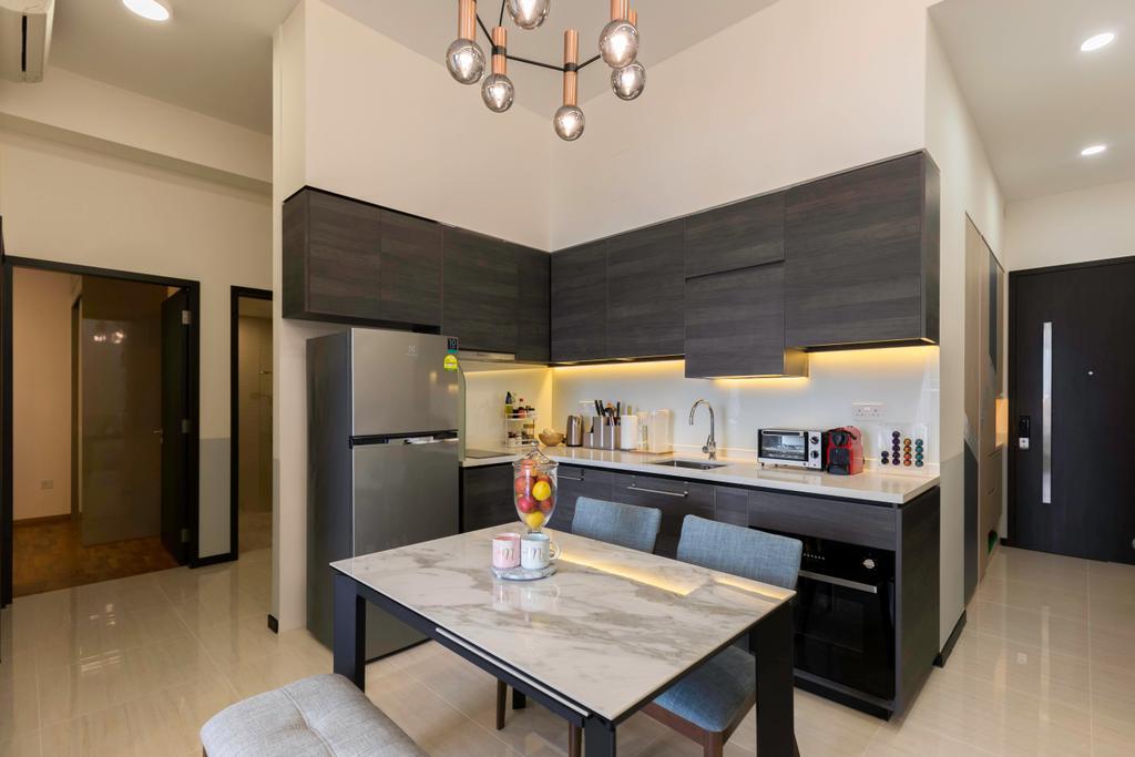 Condo, Dining Room, Sims Urban Oasis, Interior Designer, Starry Homestead