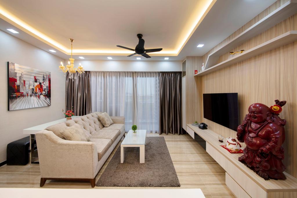 Modern, Condo, Living Room, Sims Urban Oasis, Interior Designer, Starry Homestead