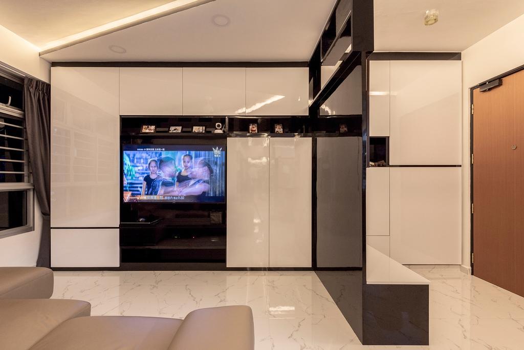 Modern, Condo, Living Room, Sembawang, Interior Designer, Visionary Interior