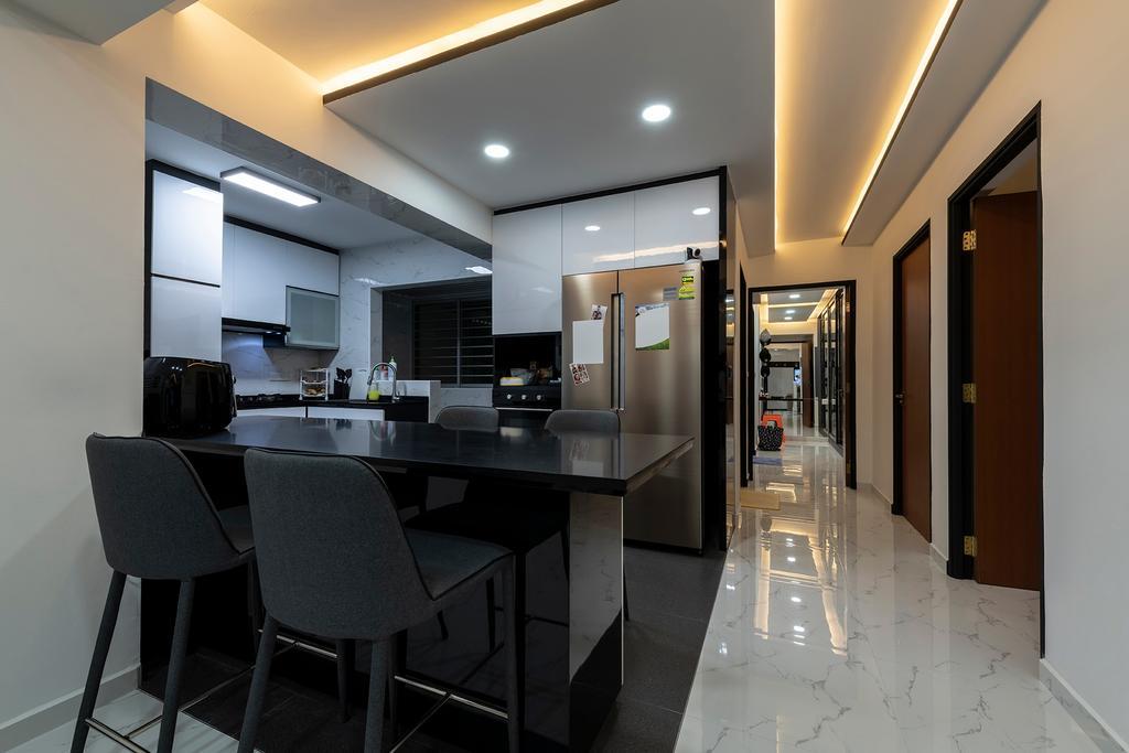 Modern, Condo, Dining Room, Sembawang, Interior Designer, Visionary Interior