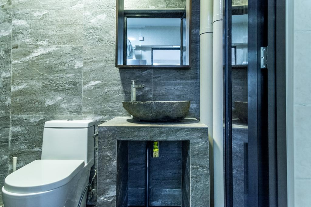 Eclectic, HDB, Bathroom, Anchorvale Lane, Interior Designer, Archive Design, Industrial