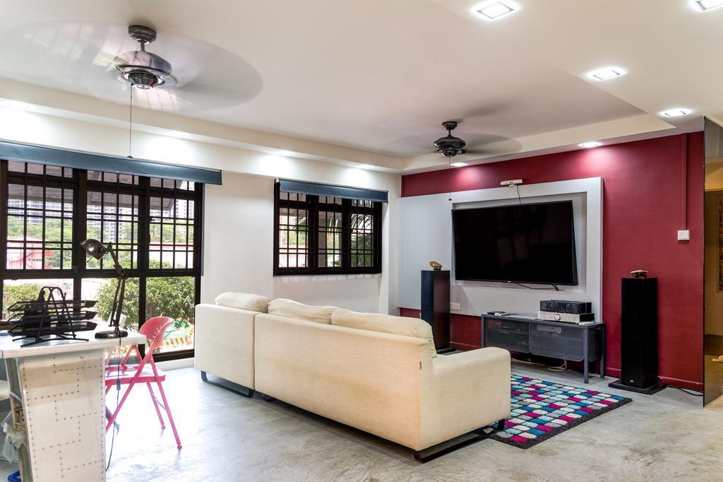 Eclectic, HDB, Living Room, Anchorvale Lane, Interior Designer, Archive Design, Industrial