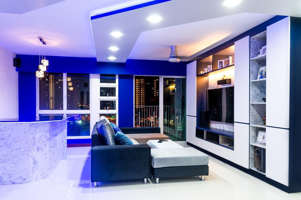 Modern, HDB, Living Room, Edgefield Plains, Interior Designer, Archive Design